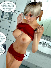 Big boobed 3d chicks expsoing their perfect bodies covered by tight latex.